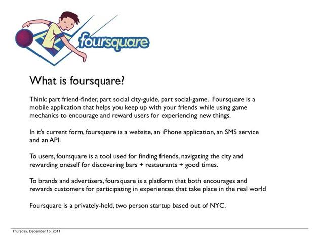 Foursquareが創業期に行ったピッチを紹介